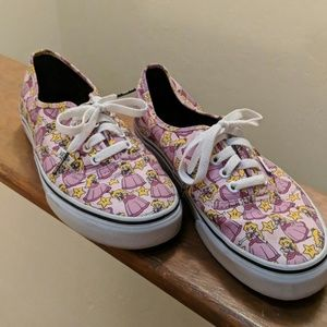 Size 10 Vans Nintendo Princess Peach Shoes